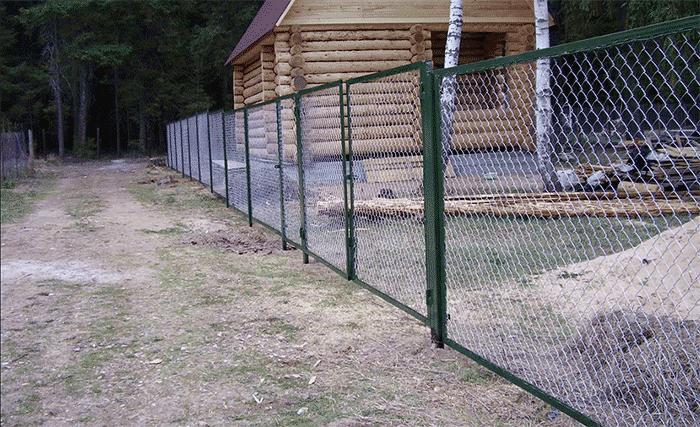 секционный забор из сетки