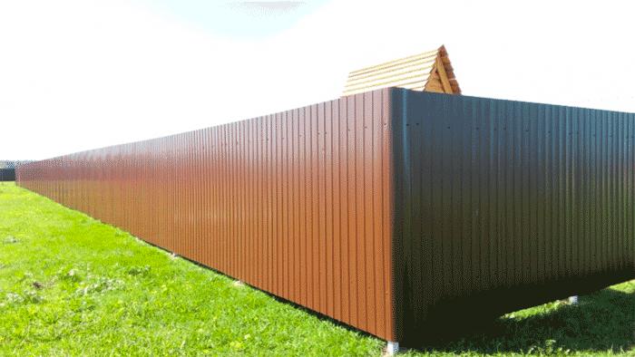 заборные секции из металла
